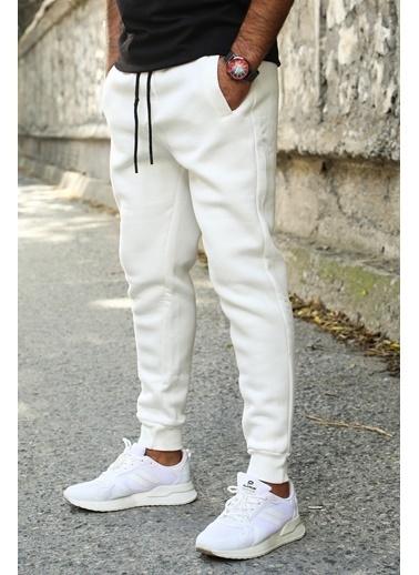Madmext Basic Erkek Eşofman Alt Beyaz